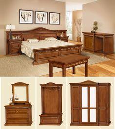 Mobila / Mobilier Dormitor clasic lemn masiv Venetia / Vanda