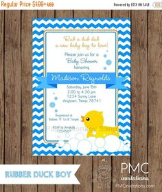 SALE SALE SALE Custom Printed Yellow Rubber Duck Baby Shower