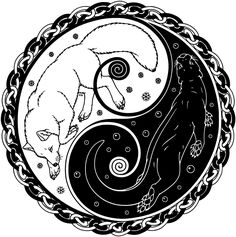 Fox-and-otter -- yin/yang is pretty conceptually similar to the usual Pisces config