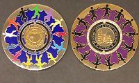 Geocoinfest 2011 EU 2 different spinner coins.