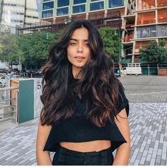Black Coffee Hair With Ombre Highlights - 10 Cool Ideas of Coffee Brown Hair Color - The Trending Hairstyle Hair Color Dark, Brown Hair Colors, Dark Hair, Brown Hair Shades, Light Brown Hair, Brown Hair With Blonde Highlights, Hair Highlights, Chunky Highlights, Peekaboo Highlights