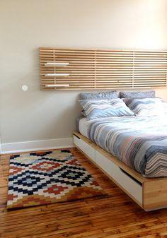 IKEA Mandal Bed frame/headboard/mattress (Queen) —