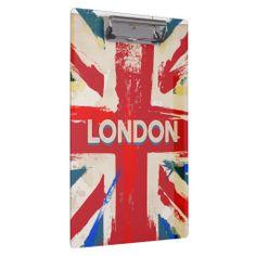Vintage London Union Poster Clipboard
