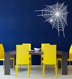 Spinne im Netz Spider Spinnennetz Insekt Wandtattoo (075.0408)