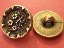 12 Metallknöpfe gold 15mm (6072-3) Knöpfe Metall