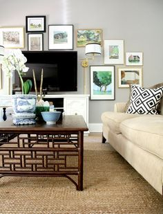 How to Decorate Around a TV {An Option for Every Style | Wall ideas ...
