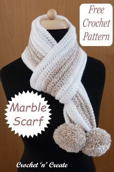 Soft and squidgy free ribbed scarf crochet pattern on crochetncreate.com