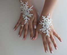 İvory Wedding Glove ivory lace gloves Fingerless by WEDDINGGloves, $25.00