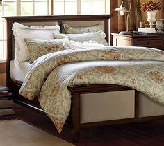 Hudson Upholstered Bed #potterybarn