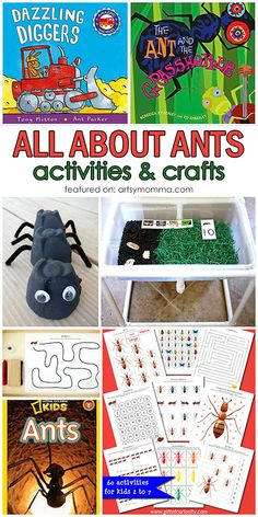 All About Ants: Themed Crafts, Activities and Books Outdoor Activities For Kids, Kids Learning Activities, Kindergarten Activities, Fun Learning, Preschool Activities, Educational Activities, Outdoor Learning, Alphabet Activities, Motor Activities