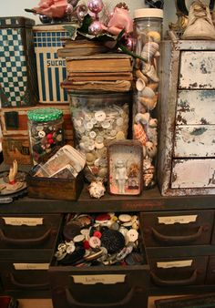 No not my space, but a shot of Patty van Dorin's.  Love what she has to say in this blog post
