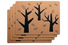 Sets de table avec motif forêt naïve - Le design scandinave s ...