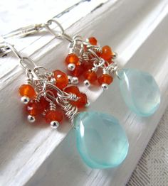 Aqua and Tangerine! (By SC design on Etsy)