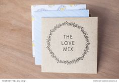 Love Mix CD cover for the road   FREE printable   Design: Bells & Whistles, Photographer: Shannon Bradfield Photography
