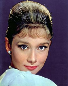 Beautiful Audrey Hepburn , great color photo