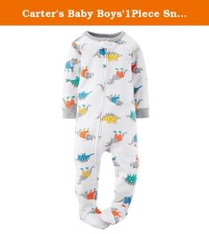 Carters Baby Boys1Piece Snug Fit Cotton Pajamas 5T. Select from these five fun baby boy styles. These footie pajamas zip from the ankle up to the chin and have a worry-free safety tab. They also have built-in grippers on the bottom of the feet.