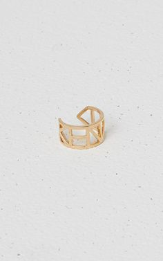 Bague Flying Logo Kenzo, , KENZO