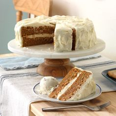Easy Moist Carrot Cake With Cream Cheese Frosting Recipe.Moist Carrot Cake With Cream Cheese Frosting Baking From . World's Best Carrot Cake With Cream Cheese Frosting . The Best Carrot Cake Spend With Pennies. Frosting Recipes, Cake Recipes, Dessert Recipes, Just Desserts, Delicious Desserts, Bolos Naked Cake, Sweet Carrot, Zeina, Brownie