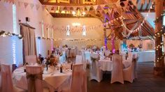 Bunting always looks beautiful in the tithe barn at Ufton Court