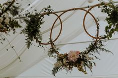 Woodland Wedding Floral Hoop
