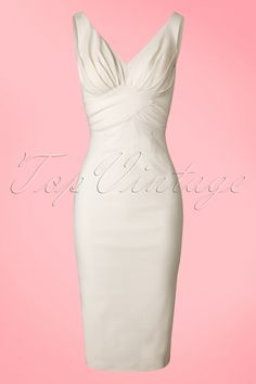 Stop Staring! Ivory White Pencil Dress 100 50 18459 20160429 von Little White Dresses TopVintage Exclusive ~ Maeve Pencil Dress in Ivory Vintage Outfits, Vintage Dresses, Vintage Fashion, 70s Fashion, Korean Fashion, Winter Fashion, Evening Dresses, Formal Dresses, Wedding Dresses