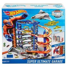 Check out the Hot Wheels Super Ultimate Garage Play Set at the official Hot Wheels website. Explore the world of Hot Wheels today! Maserati, Bugatti, Voitures Hot Wheels, Toy Race Track, Hot Wheel Autos, Hot Wheels Display, Audi, Ultimate Garage, Lego City