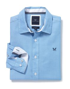 Men's Kendal Shirt in Sky from Crew Clothing