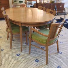 #Vintage #MidCenturyModern #DiningSet With 6 Chairs  -Click On Link For All Info Dining Set, Dining Chairs, Dining Table, Mid Century Modern Furniture, Midcentury Modern, Link, Vintage, Inspiration, Home Decor