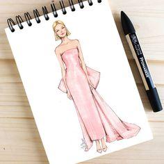 Style of Brush by Gizem Kazancigil gizem kazancigil ( Sad Girl Drawing, Girl Drawing Sketches, Dress Sketches, Dress Drawing, Fashion Design Books, Fashion Design Portfolio, Fashion Design Drawings, Fashion Art, Fashion Illustration Sketches