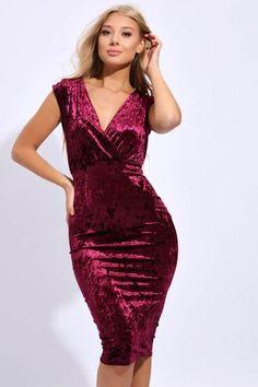 e75ec97c Shop our Sale – I SAW IT FIRST Burgundy Midi Dress, Velvet Midi Dress,