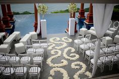 white wedding decor at Zephyr Palace in Costa Rica