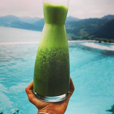 hydration potion to keep your cells in motion  Credit @earthyandy . . To make some hydrating potion at home try... RECIPE: 1 seeded and peeled cucumber 1 big handful kale tiny handful parsley 2 squeezed oranges (or full if you don't mind pulp!) 1 banana 1 handful of ice blended