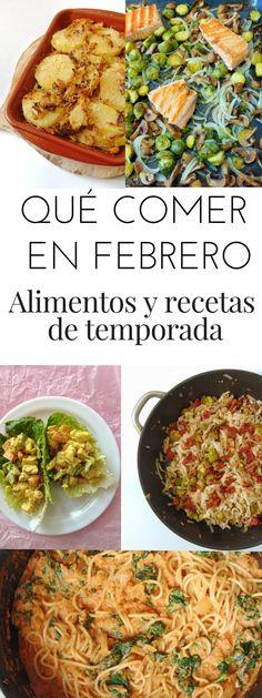 Recetas y alimentos de temporada en febrero - Qué comer en febrero