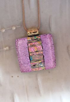 Fused Dichroic Glass Pendant Glass Jewelry by myfusedglass on Etsy, $24.00