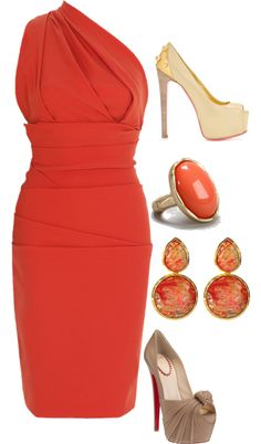 """""""coral"""" by cmscruggs Fashion Moda, Womens Fashion, Outfit Combinations, Passion For Fashion, Sexy Dresses, Dress To Impress, What To Wear, Style Me, Fashion Beauty"""