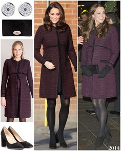 12 Dec Kate wore to a Christmas Party for families of the Grenfell Tower fire tragedy Duchess Kate, Duke And Duchess, Duchess Of Cambridge, Kate Middleton Coat, Kate Dress, Kate And Meghan, Prince William And Catherine, My Fair Lady, Princess Charlotte