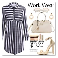 """""""Work Wear Dress"""" by jecakns ❤ liked on Polyvore featuring Clarins"""