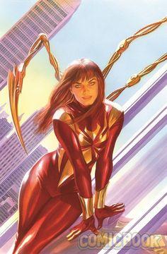 Homem-Aranha - Mary Jane usa o uniforme do Aranha de Ferro em capa de quadrinho! - Legião dos Heróis