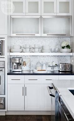 Cool Chic Style Attitude: Design Trends: Subway + Hexagon Marble Tile