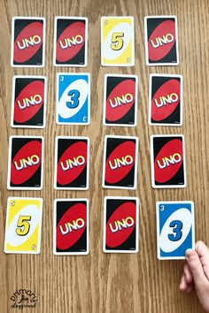 Number Memory Game using UNO cards
