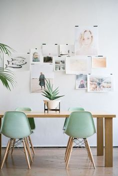 Décor do dia: moodboard na sala de jantar verde
