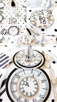 Black + White New Years Eve Party by Pizzazzerie.com