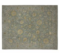 Maren Persian-Style Rug #potterybarn - this is on sale and is very pretty - could be good in either room!  Check it out!