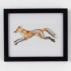 """""""Swift Fox"""" - Painting Limited Edition Art Print by Natalie Groves. Framed Wall Art, Wall Art Prints, Fine Art Prints, Swift Fox, Fox Painting, Fox Print, Contemporary Wall Art, Contemporary Furniture, Kids Decor"""