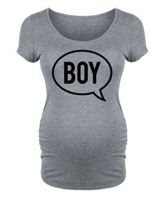 Love this Athletic Heather 'Boy' Word Bubble Maternity Scoop Neck Tee on #zulily! #zulilyfinds