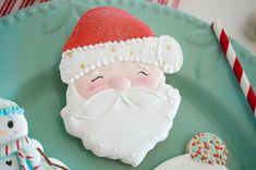 Santa cookies at a Christmas PJ Party