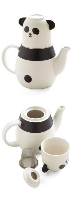 Panda teapot and tea cup set #product_design