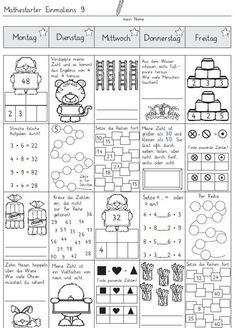 Teaching Kids, Kids Learning, First Grade Math Worksheets, Math Tables, Math Sheets, Dyscalculia, Primary Maths, Design Blog, Design Design
