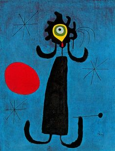 1950 Joan Miro (Spanish Surrealist Painter and Sculptor, Woman in Front of the Sun Joan Miro Paintings, Spanish Painters, Oil Painting Reproductions, Henri Matisse, Pablo Picasso, Art Plastique, Oeuvre D'art, Art Lessons, Modern Art