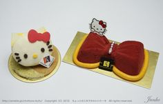 Hello Kitty Macaron & Mousse Cake from Junko-san of the Slightly Clever and Cute Cake blog =) ちょっとの工夫でかわいいケーキ